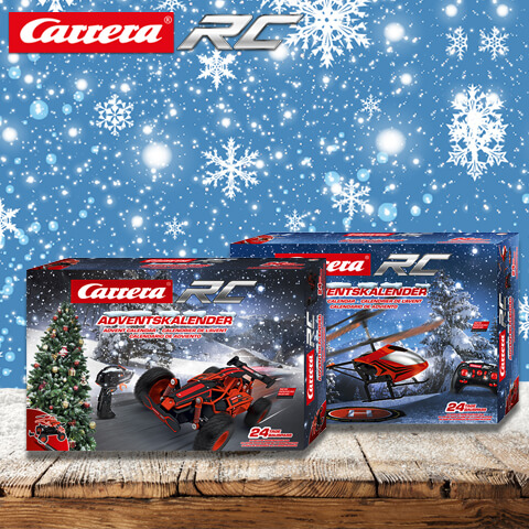 Car racing tracks and remote-controlled cars from Carrera